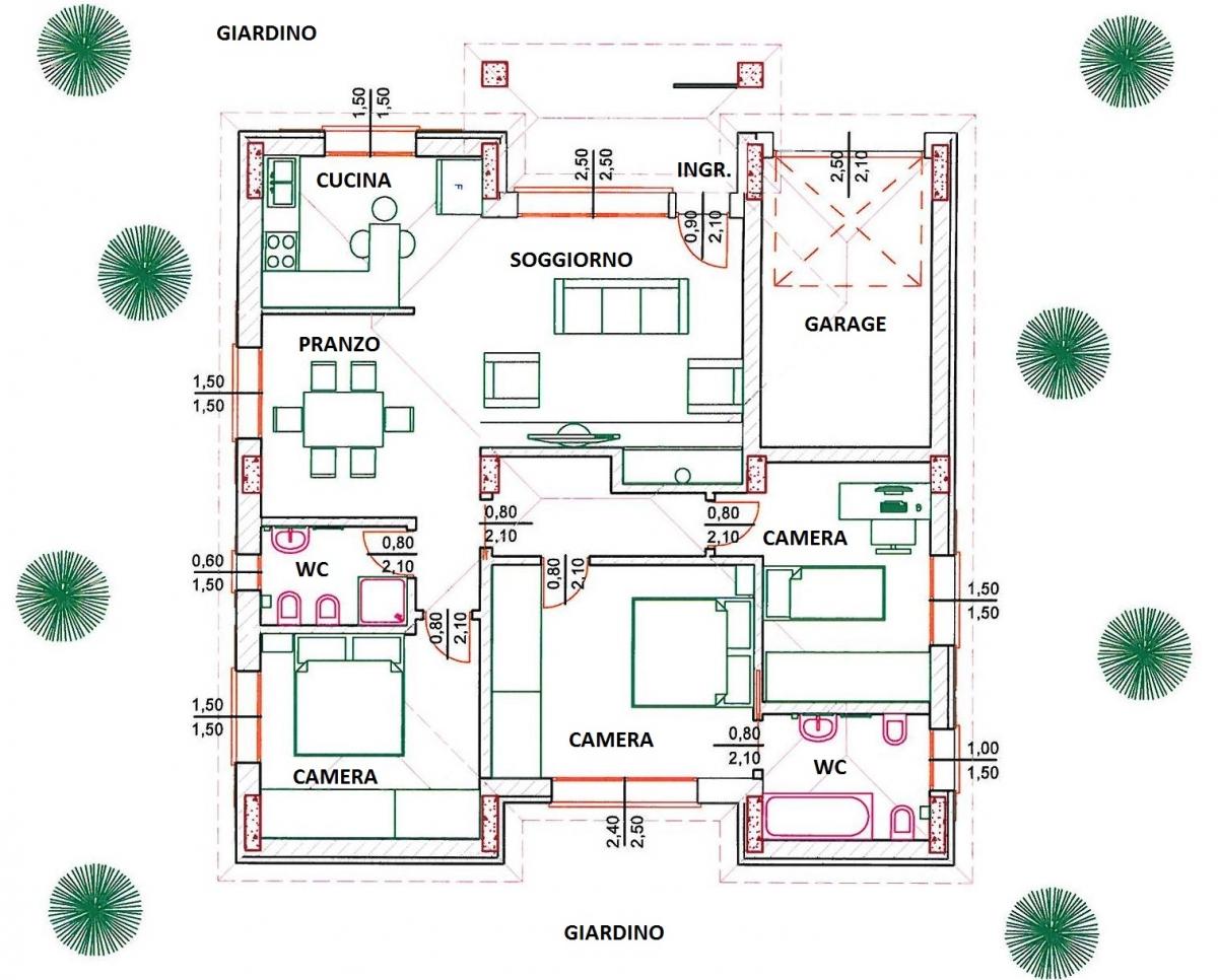 Progetti case moderne su un piano for Progetti ville a due piani